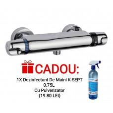 Baterie dus cu termostat Sidef Fruh + CADOU 1x Dezinfectant De Maini K-SEPT 0.75L Cu Pulverizator