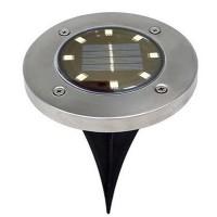 LAMPA SOLARA CU 8 LED-URI, IMPERMEABILA, FIXARE IN SOL, IP65