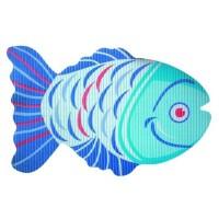 Covoras baie din spuma poliuretanica Fish albastru