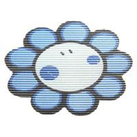 Covoras baie din spuma poliuretanica, Smiley Flower Albastru