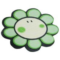 Covoras baie din spuma poliuretanica, Smiley Flower Verde