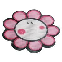 Covoras baie din spuma poliuretanica, Smiley Flower Roz