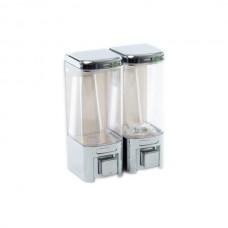 Dispenser dublu sapun lichid plastic ABS 480 ml, Sidef