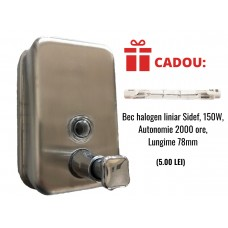 Dispenser inox sapun lichid 500ML+ CADOU Bec halogen liniar 150W