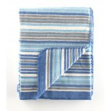 PATURA 150X200 CM, 60% BUMBAC, BLUE