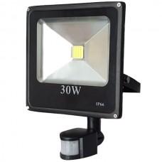 Proiector led PowerX cu senzor 30 W slim, lumina alba rece