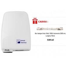Uscator de maini cu senzor 1200W, Sidef + CADOU Bec halogen liniar 150W